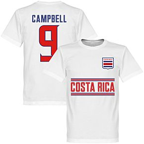 Costa Rica Campbell 9 Team Tee - White