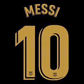 Messi 10 (Official Printing) - 20-21 Barcelona Away