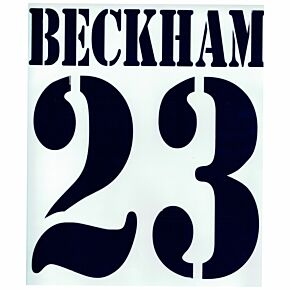 Beckham 23 - 02-03 Real Madrid Home Flex Name and Number Transfer