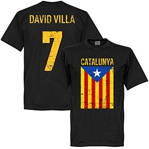 Catalunya David Villa Tee - Black