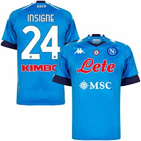 20-21 Napoli Home Shirt + Insigne 24 (Official Printing)