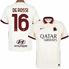 20-21 AS Roma Away Shirt + De Rossi 16 (Official Printing)