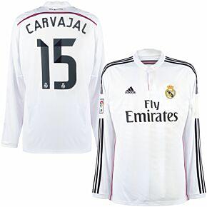 14-15 Real Madrid Home L/S Shirt + Carvajal 15 (Official)