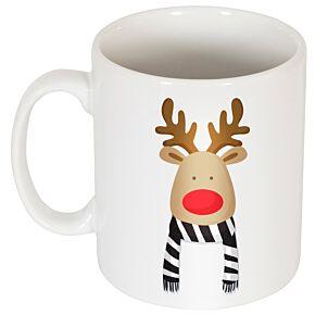 Reindeer Supporters Mug - Black/White