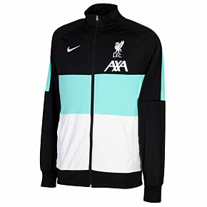 20-21 Liverpool I96 Anthem Track Jacket - Black/Turq/White