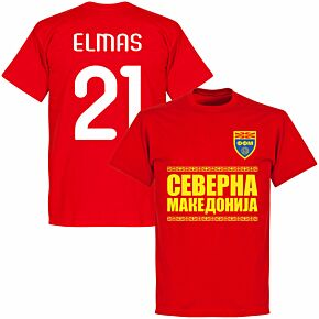 North Macedonia Elmas 21 Team T-shirt - Red