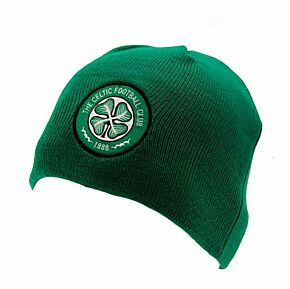 Celtic Knitted Beanie Hat - Green