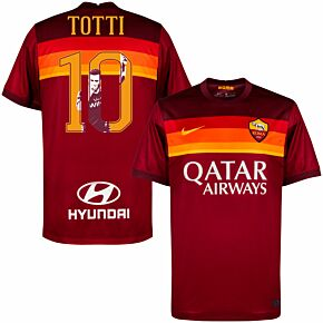 20-21 AS Roma Home Shirt + Totti 10 (Gallery Style)