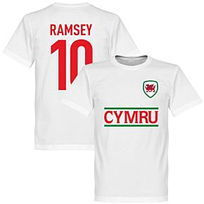 Cymru Ramsey 10 Team Tee - White
