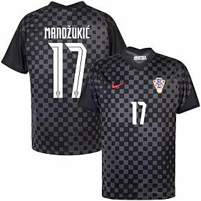 20-21 Croatia Away Shirt + Mandžukić 17 (Official Printing)