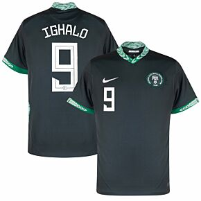 20-21 Nigeria Away Shirt + Ighalo 9 (Official Printing)