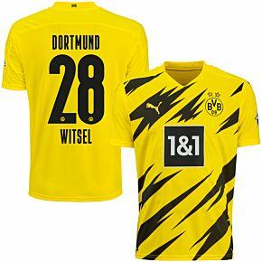 20-21 Borussia Dortmund Home Shirt + Witsel 28