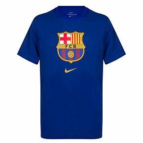 19-20 Barcelona Evergreen Crest 2 T-Shirt - Royal