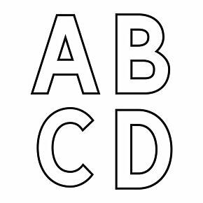 20-21 Premier League Official Adult Player Letters - White (49mm)