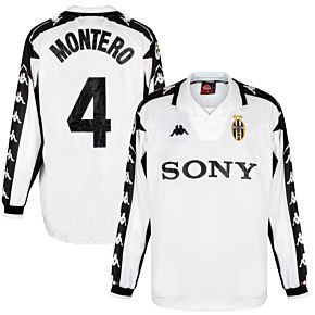 Kappa Juventus 1999-2000 Away Jersey L/S - NEW Condition - Montero 4 Match Issue - Size XL