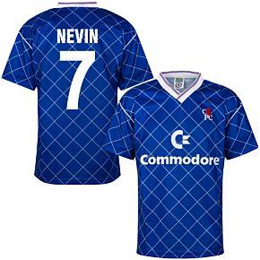 1988 Chelsea Home Retro Shirt + Nevin 7 (Retro Flock Printing)
