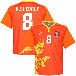 Bhutan Home K. Shedrup Jersey 2015 - 2018 (Fan Style Printing)