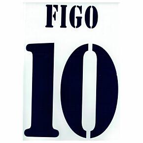 Figo 10 - 02-03 Real Madrid Home Flex Name and Number Transfer