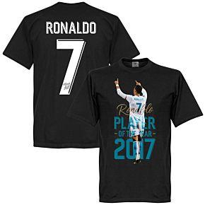 Ronaldo 2017 Player of the Year KIDS Tee - Black