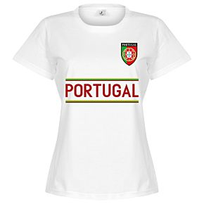 Portugal Team Womens Tee - White