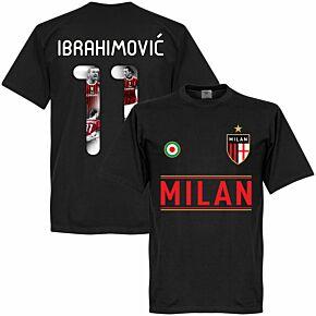 Milan Team Ibrahimović 11 Gallery T-shirt - Black