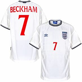 Umbro England 1999-2001 Home Beckham 7 Shirt NEW (w/tags) - Size XL