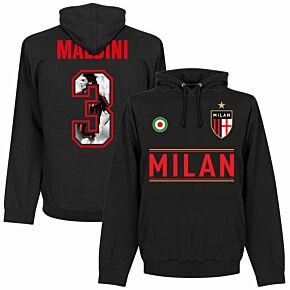 AC Milan Maldini 3 Gallery Tea m Hoodie - Black