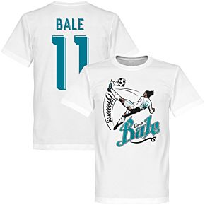 Bale 11 Bicycle Kick Tee - White