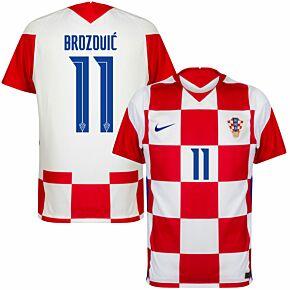 20-21 Croatia Home Shirt + Brozović 11 (Official Printing)