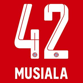 Musiala 42 (Official Printing) - 21-22 Bayern Munich Home