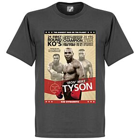 Mike Tyson Boxing Poster Tee - Dark Grey