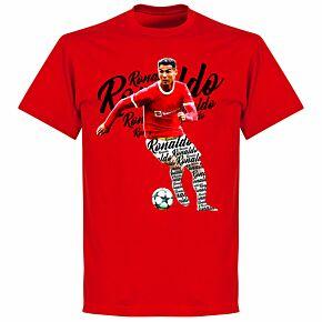 Ronaldo Script T-shirt - Red