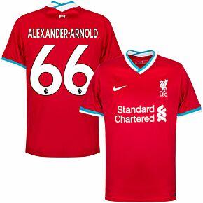 20-21 Liverpool Home Shirt - Kids + Alexander-Arnold 66 (Premier League)