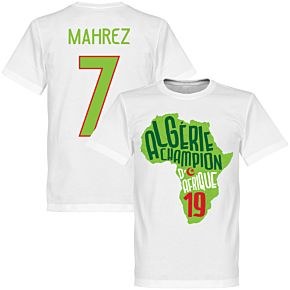 Algeria Champions of Africa Mahrez 7 Map Tee - White/ Light Green