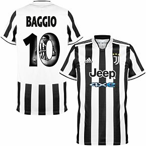21-22 Juventus Home Shirt + Baggio 10 (Gallery Style)