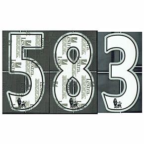 07-11 Premier League Kids Numbers - White/Black 165mm