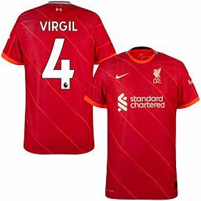 21-22 Liverpool Dri-Fit ADV Match Home Shirt + Virgil 4