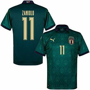 19-20 Italy Renaissance 3rd Shirt + Zaniolo 11 (Fan Style Printing)