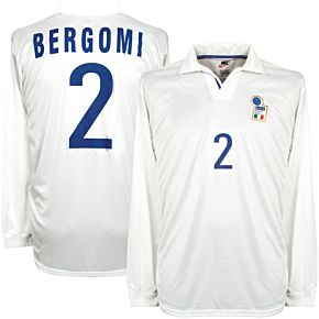Nike Italy 1998-1999 Away Jersey L/S New (w/tags) Condition (Great) Match Issue BERGOMI #2