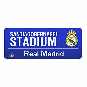 Real Madrid Color Street Sign