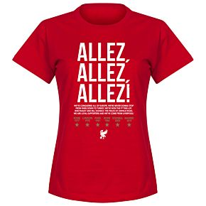 Liverpool Allez Allez Allez Womens Tee - Red
