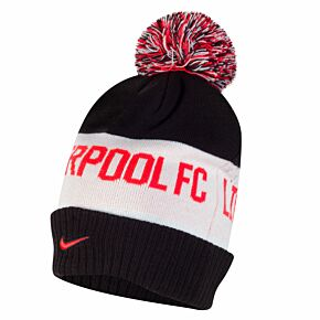 20-21 Liverpool Pom Beanie - Black/Crimson