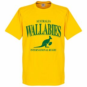 Australia Wallabies KIDS Rugby Tee - Yellow