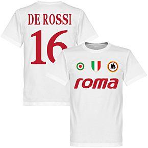 Roma Vintage De Rossi 16 Team Tee - White