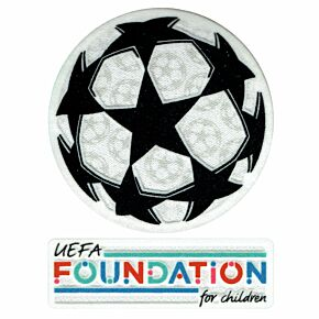 21-22 UCL Starball + UEFA Foundation Patch Set