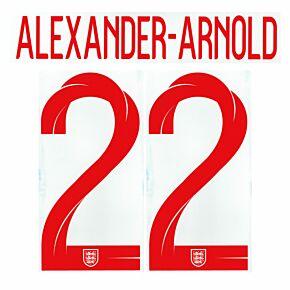 Alexander-Arnold Back No.22 (Official Printing) - 20-21 England Home