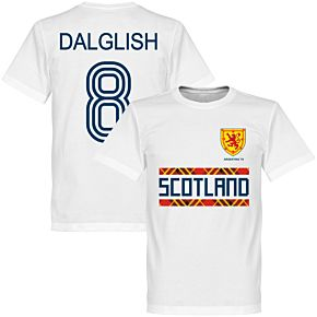 Scotland Retro 78 Dalglish 8 Team Tee - White