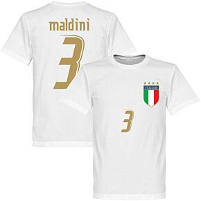 2006 Italy Maldini Tee - White