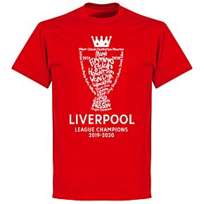 Liverpool 2020 League Champions Trophy KIDS T-shirt - Red