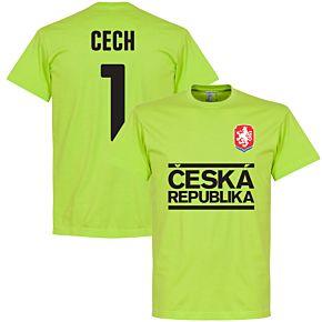 Czech Republic Cech Team Tee - Apple Green